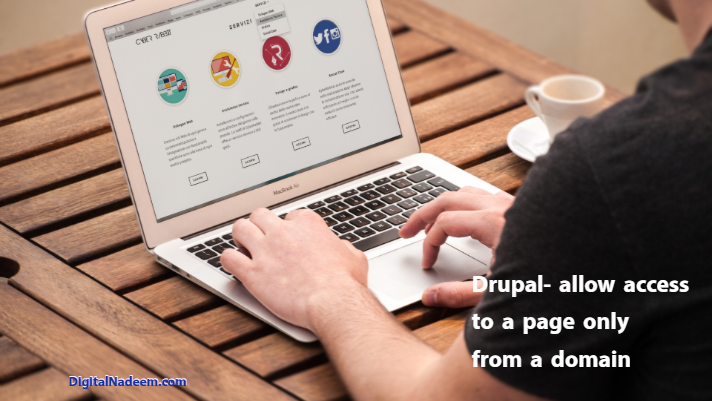 Drupal allow access to a page only from a specific domain
